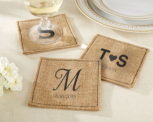 Artisanal Coasters at Chic Wedding Favors.com